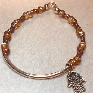 Jewelry - Bracelet, amber and gold